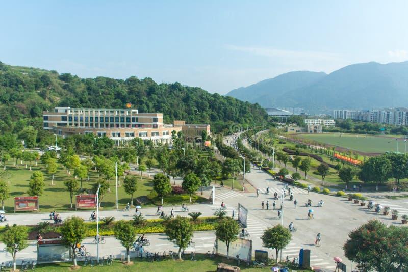 FuZhou universitets område för undervisning royaltyfri bild