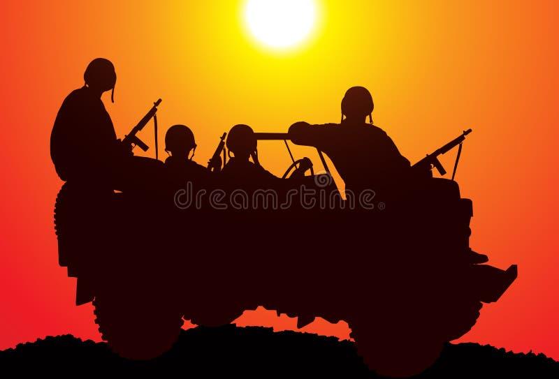 Fuzileiros navais. ilustração royalty free