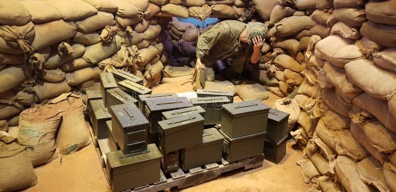 Fuzileiros navais na exposição de Vietname imagens de stock