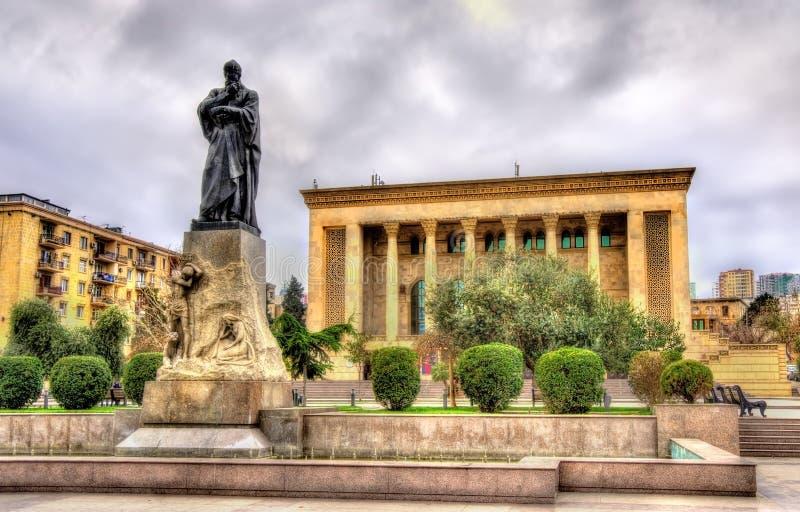 Fuzuli monument in Baku stock photography