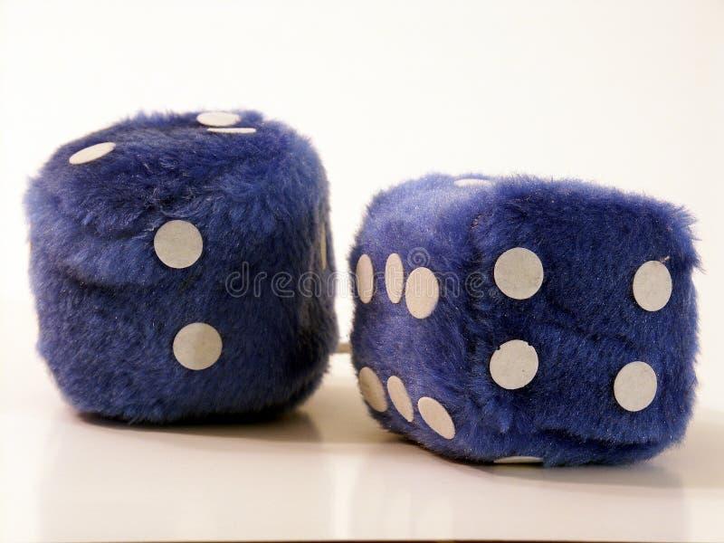 Fuzzy dice stock photo