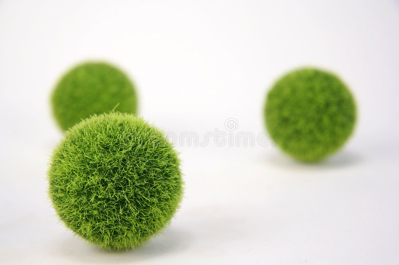 Fuzzy Green Balls royalty free stock images
