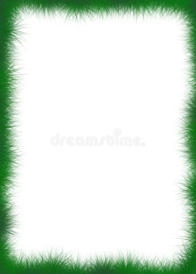 Fuzzy Green Border. An abstract border of fuzzy green stuff or grass surrounding the outer edges stock image