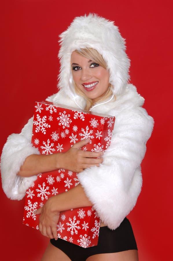 fuzzy królicze śnieg zdjęcie stock