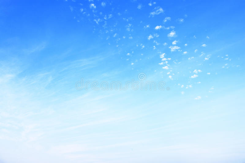 fuzzy and soft clouds on blue sky stock image