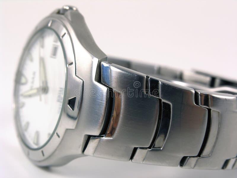 fuzzy srebrny zegarek zdjęcie royalty free