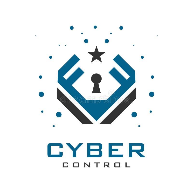 FV das iniciais do logotipo da segurança fotografia de stock royalty free