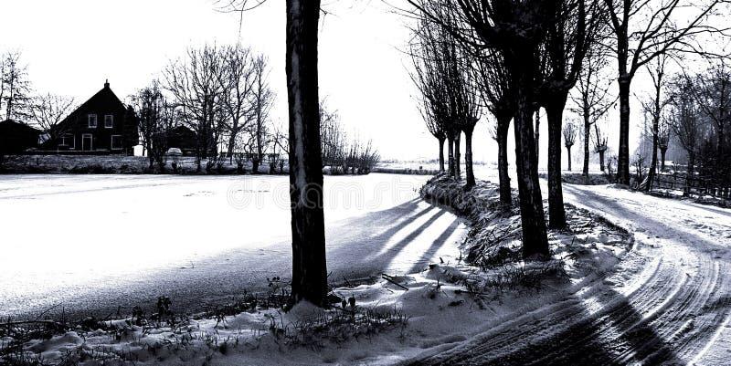 Download Fvdiagramwinterland arkivfoto. Bild av solnedgång, holland - 25496