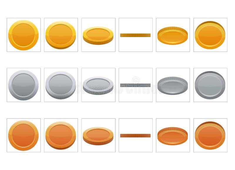 FX sprite prześcieradła animacja moneta ilustracji