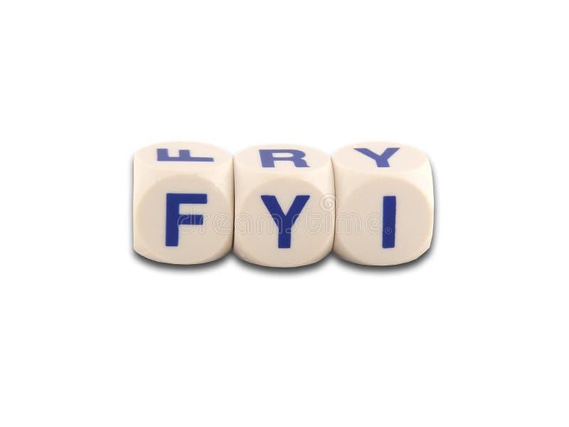 FYI voor uw informatie royalty-vrije stock fotografie