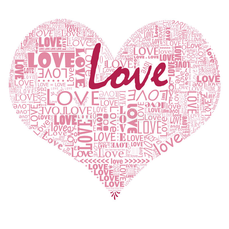 fyll din hjärtaförälskelse royaltyfri illustrationer