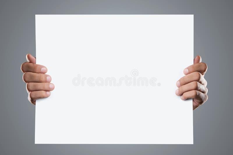 fyll på blankt rymma för händer royaltyfri bild
