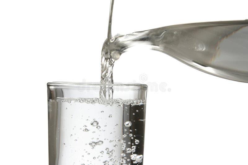 fyllande glass vatten royaltyfri bild