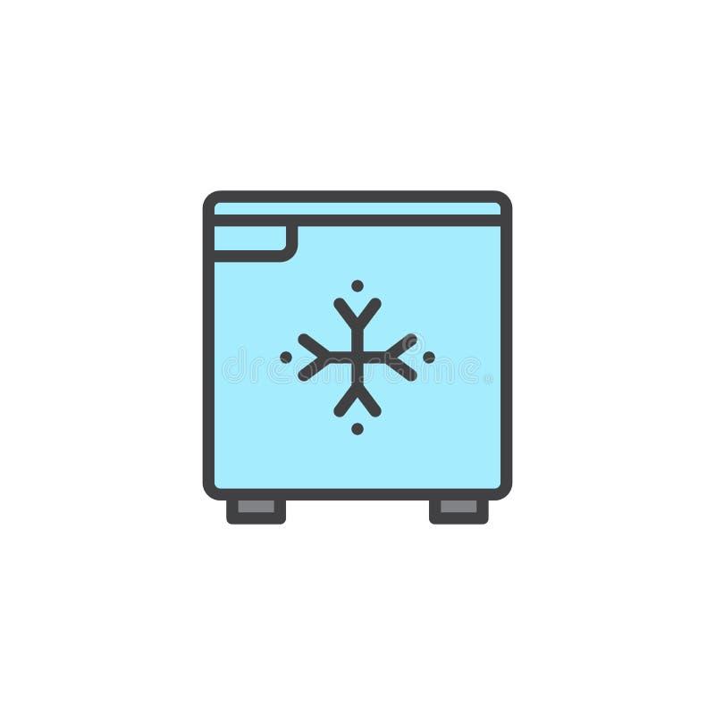 Fylld översiktssymbol för hotell mini- kyl stock illustrationer