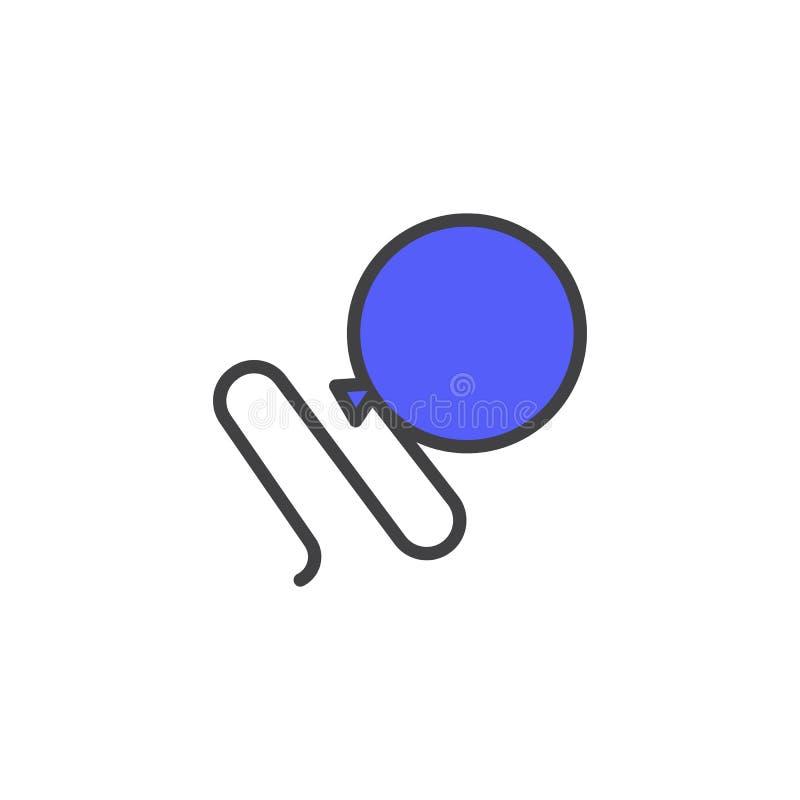 Fylld översiktssymbol för parti ballong vektor illustrationer