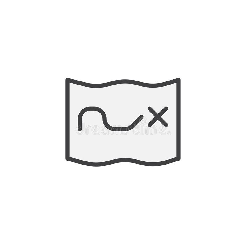 Fylld översiktssymbol för skatt översikt vektor illustrationer