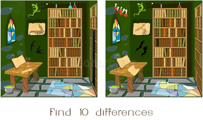 Fynd tio skillnader royaltyfri illustrationer