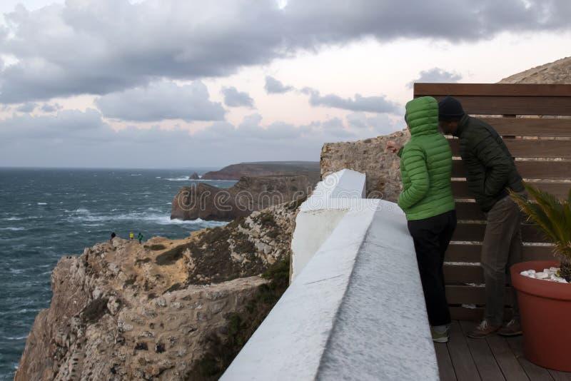 Fyr av Cabo de Sao Vicente royaltyfria foton