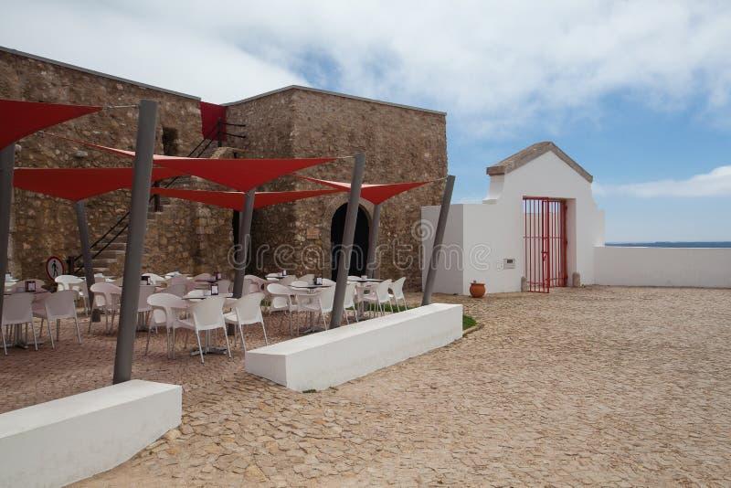 Fyr av Cabo de Sao Vicente, Sagres, Algarve, Portugal royaltyfria foton