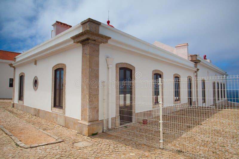 Fyr av Cabo de Sao Vicente, Sagres, Algarve, Portugal arkivfoton