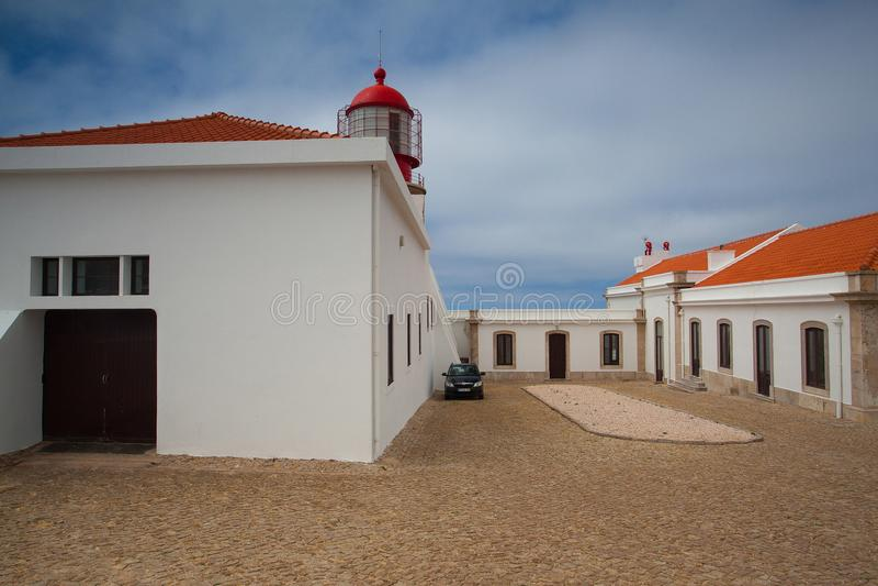 Fyr av Cabo de Sao Vicente, Sagres, Algarve, Portugal royaltyfri bild