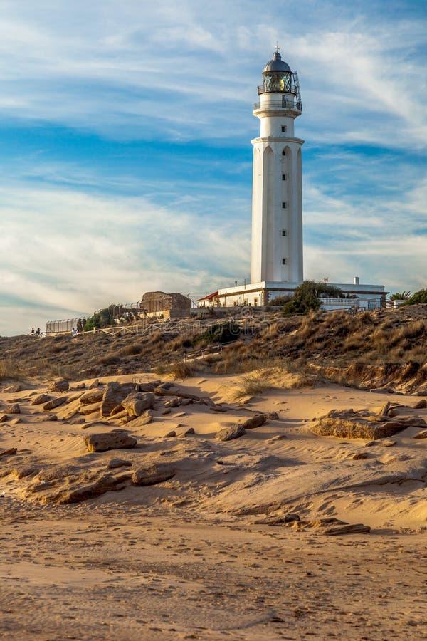 Fyr av Trafalgar, Cadiz arkivfoto