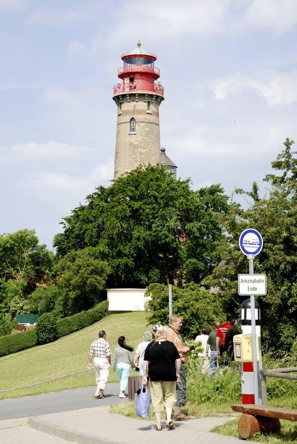 Fyr av udde Arkona i Tyskland royaltyfri fotografi