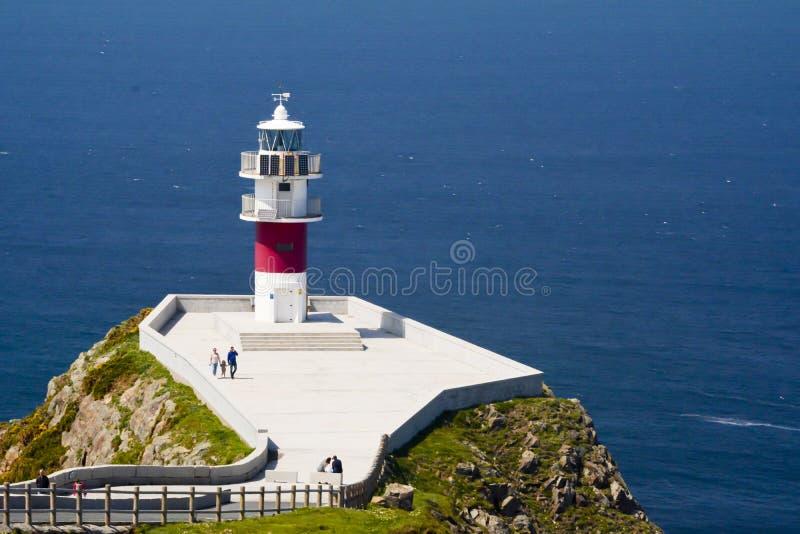 Fyr av udde Ortegal, Galicia, Spanien royaltyfri foto