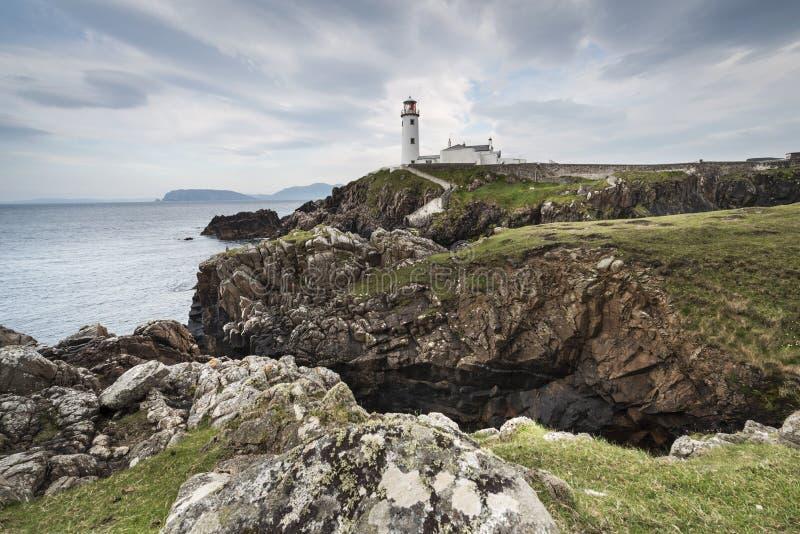 Fyr Fanad huvud, ståndsmässiga Donegal, Irland royaltyfri fotografi