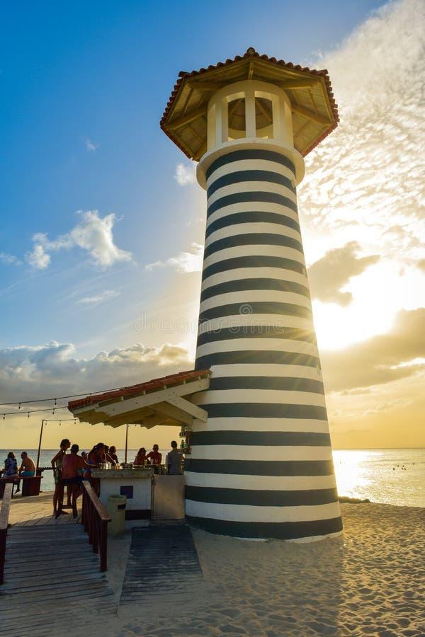 Fyr i den Bayahibe stranden, Dominikanska republiken arkivbild