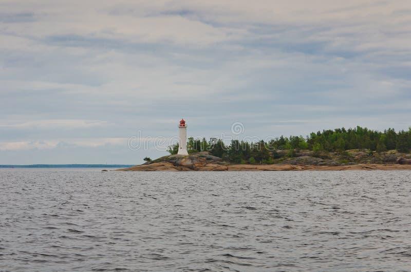 Fyr i det baltiska havet royaltyfria bilder