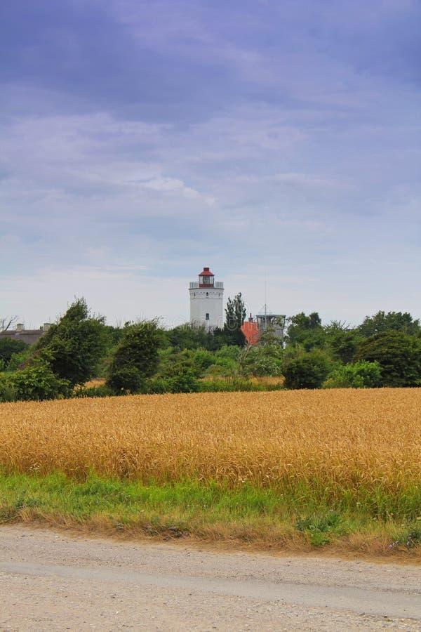Fyr i Gedser, Danmark arkivbild