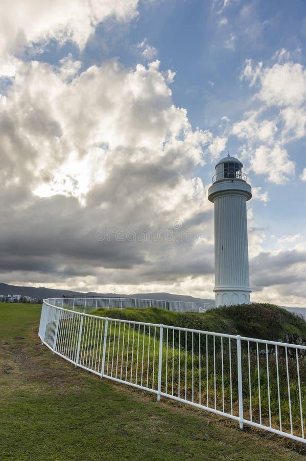 Fyr i Wollongong Australien royaltyfri fotografi