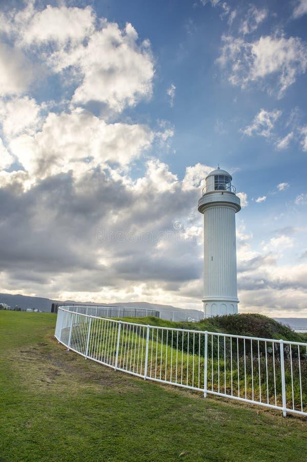 Fyr i Wollongong Australien royaltyfri foto