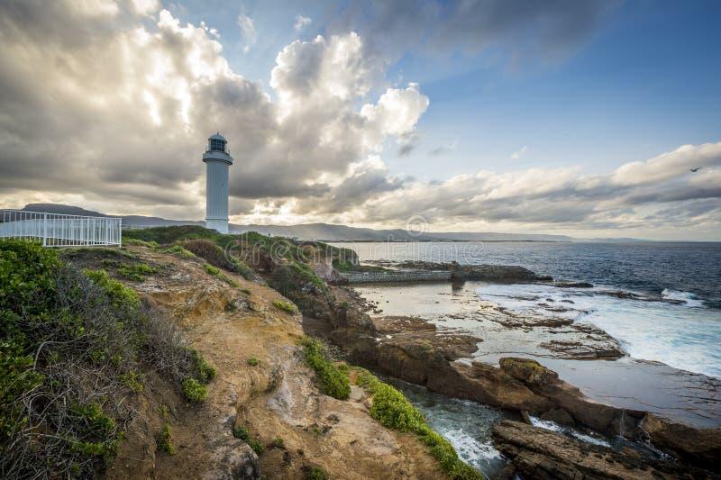 Fyr i Wollongong Australien royaltyfria bilder