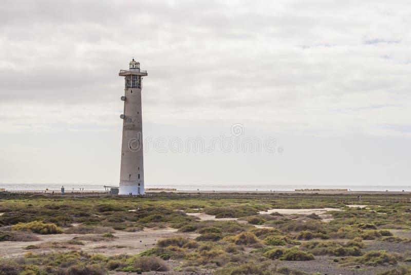 Fyr Jandia Playa, Fuerteventura arkivbild