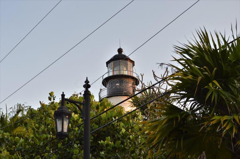 Fyr Key West Florida royaltyfri bild