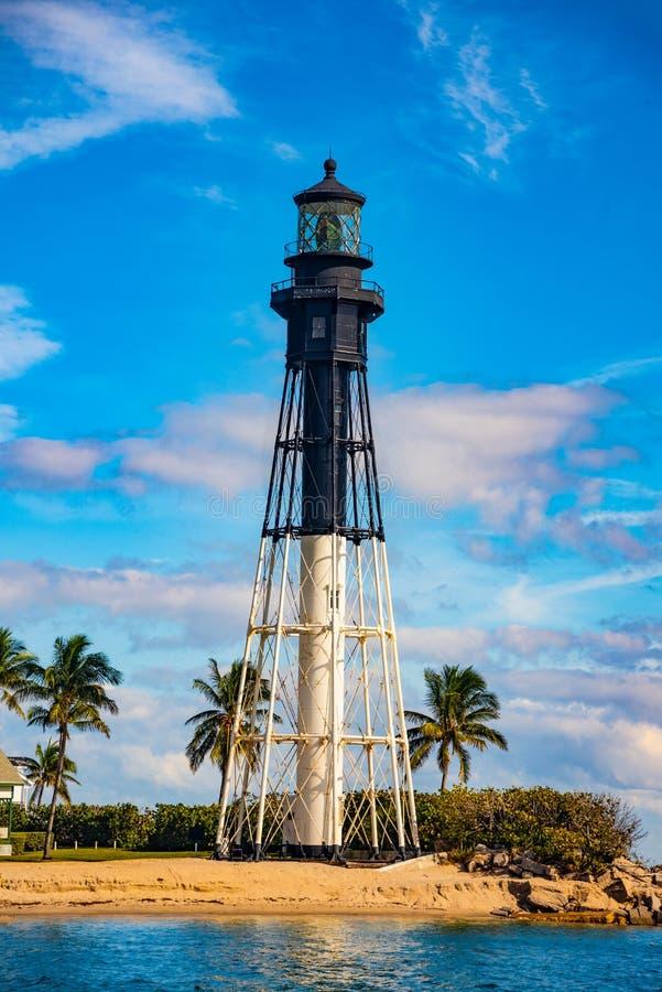 Fyr nära Fort Lauderdale, Florida, USA royaltyfria bilder