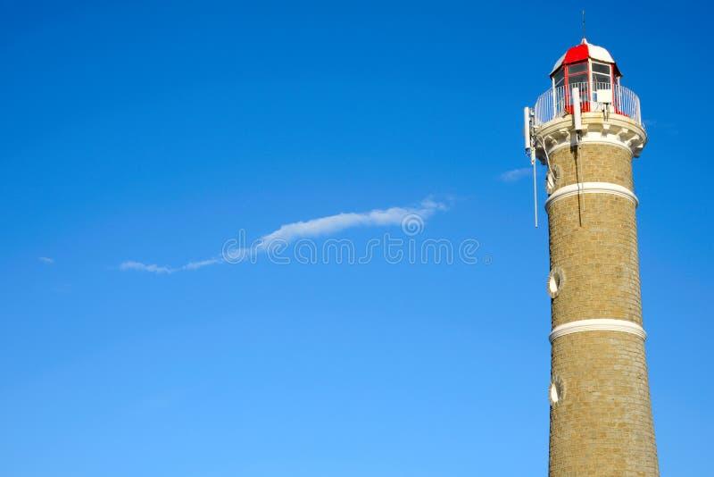 Fyr nära Punta del Este, Uruguay fotografering för bildbyråer