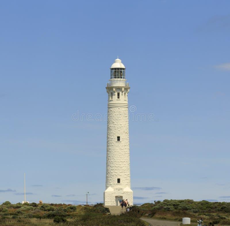 Fyr på augusta västra Australien på horisonten fotografering för bildbyråer