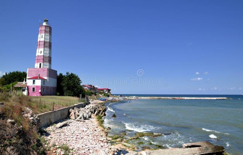 Fyr på Blacket Sea, Bulgarien`, royaltyfri foto