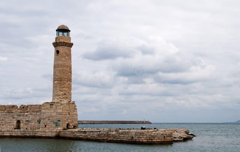 Fyr Rethymno Crete royaltyfri foto