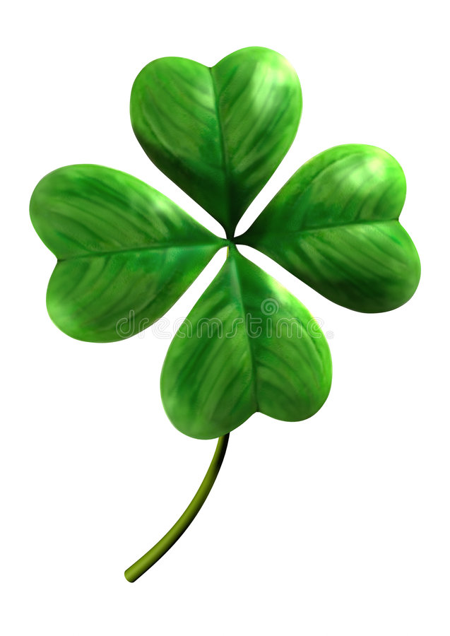 fyra blad shamrocken stock illustrationer