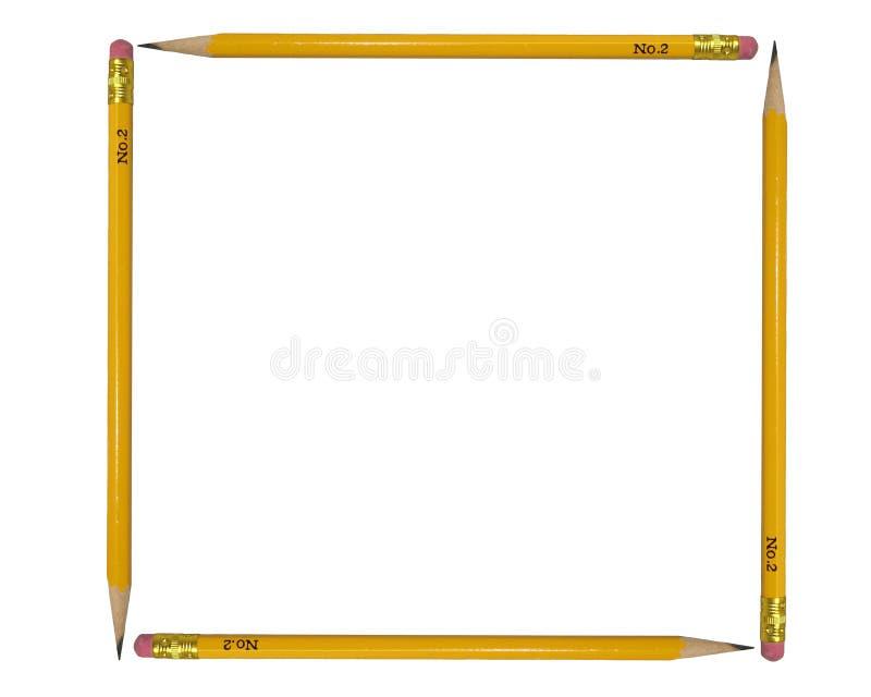 fyra blyertspennor fotografering för bildbyråer