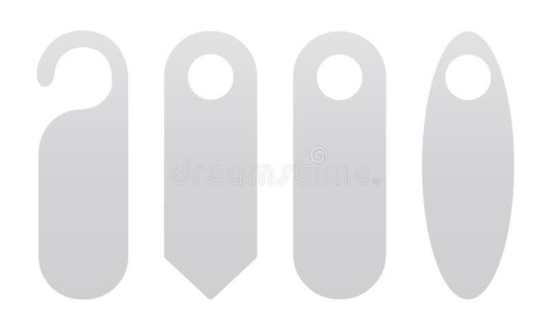 Fyra dörrhängare vektor illustrationer