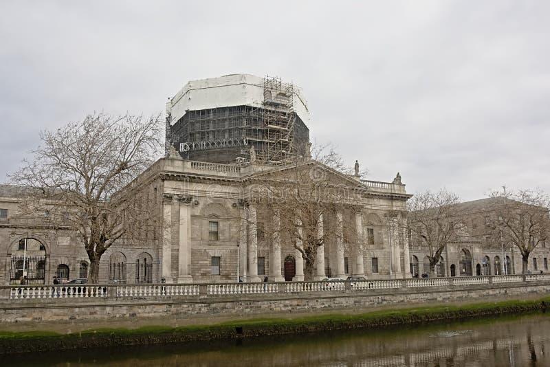 Fyra domstolar under renovering, Dublin royaltyfri fotografi