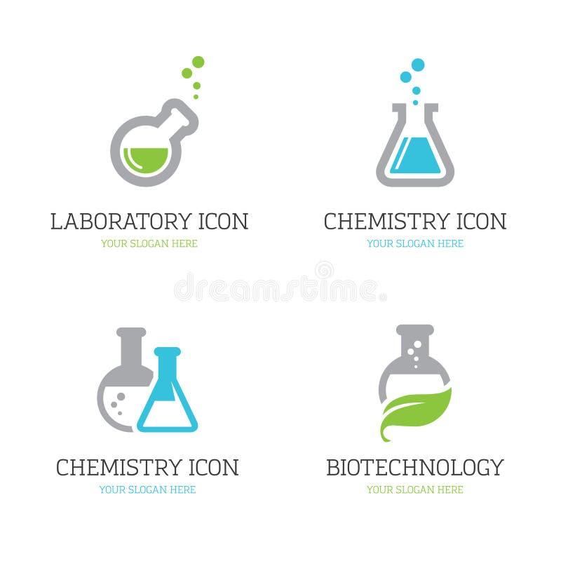 Fyra flaskasymboler royaltyfri illustrationer