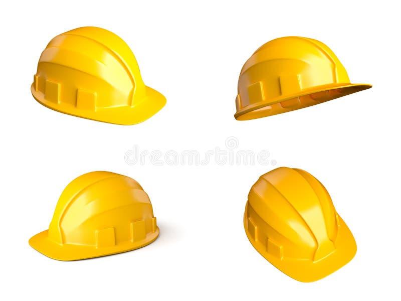 Download Fyra hjälmar arkivfoto. Bild av konstruktion, orange - 27281236