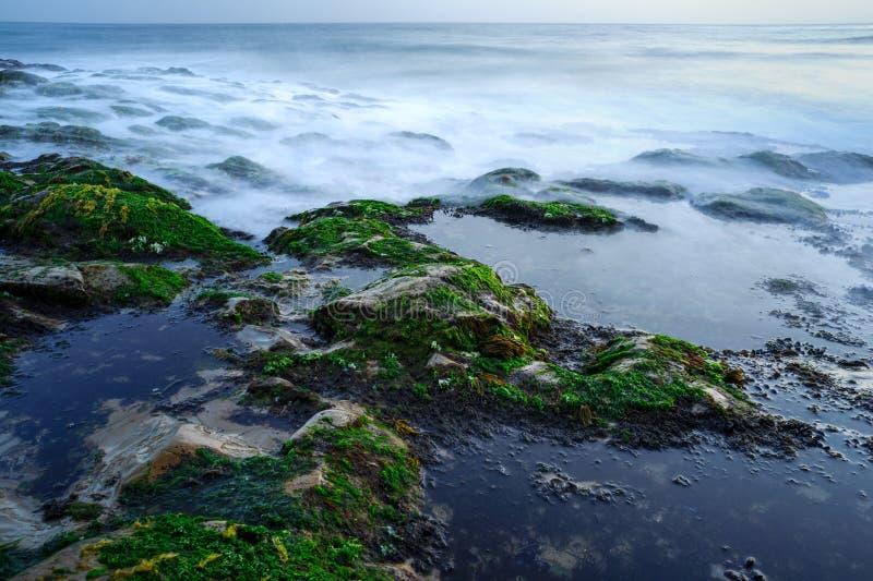 Fyra Mile strand, Kalifornien arkivbild