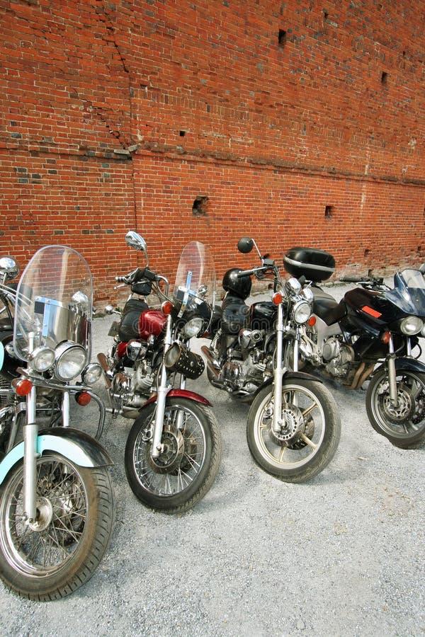 fyra motorcyklar royaltyfri bild